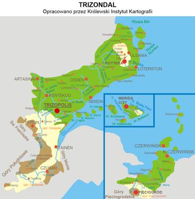 Mapa Trizpondalu
