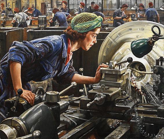 Ruby Loftus screwing a Breech-ring 1943