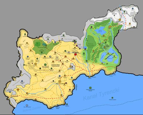 Mapa Pustkowi z roku 2018