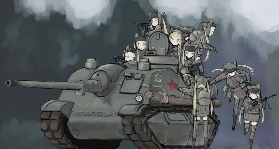 Catgirls w radzieckim czołgu